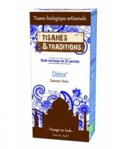Tisanes Et Traditions - Détox Recharge (Anis Fenouil Coriandre) 20 sachets