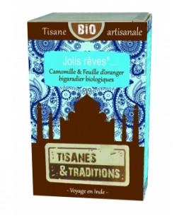 Tisanes Et Traditions - Jolis Rêves... Boite en bois (Camomille Feuille d'Oranger bigaradier) 30 sachets