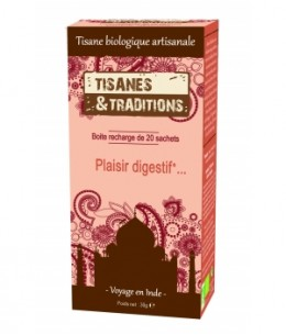 Tisanes Et Traditions - Plaisir Digestif... Recharge (Chicorée Anis Fenouil) 20 sachets