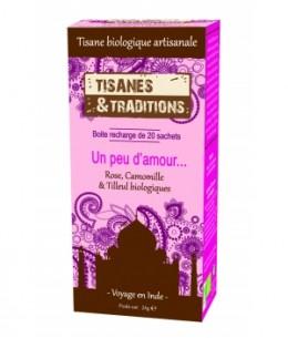 Tisanes Et Traditions - Un peu d'amour... Recharge (Rose Camomille et Tilleul) 20 sachets