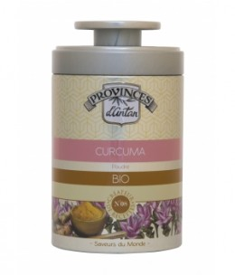 Provence d'Antan - Curcuma en poudre bio - Boîte métal 40 gr