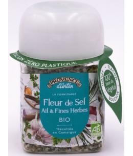 Provence D Antan - Fleur de Sel de Camargue Ail et Fines Herbes bio recharge - 70 gr