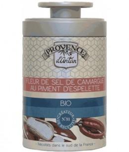 Provence d'Antan - Fleur de Sel de Camargue au Piment d'Espelette bio - boite métal 70g