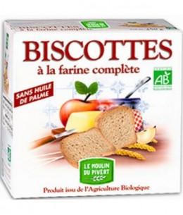 Le Moulin Du Pivert - Biscottes à la Farine complète - 270 gr