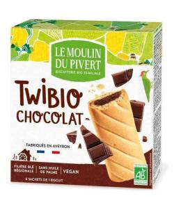 Le Moulin Du Pivert - Twibio Fourrés au Chocolat - 150 gr