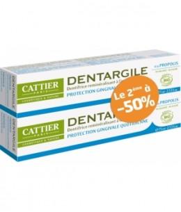 Cattier - Lot de 2 Dentargile Propolis Protection des gencives