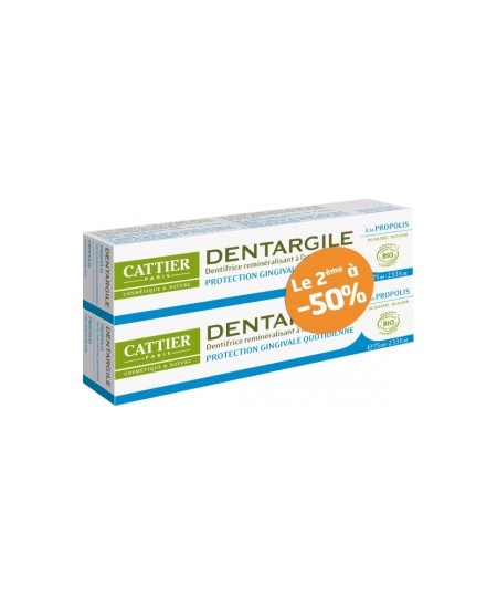 Cattier - Lot de 2 Dentargile Propolis Protection des gencives