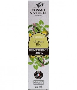 Cosmo Naturel - Dentifrice Citron blanchissant - 75 ml