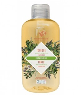 Cosmo Naturel - Mignonnette shampoing douche Tonique 2 en 1 Menthe poivrée Eucalyptus Verveine - 50 ml