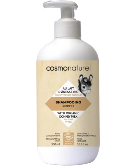 Cosmo Naturel - Shampoing au lait d'ânesse + HE - 500 ml