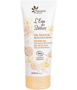 Fleurance Nature -  Gel douche parfumé à l'Eau des Délices Agrumes et Fleurs blanches - 200ml