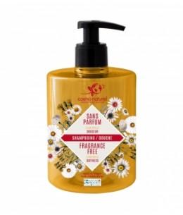 Cosmo Naturel - Shampooing douche sans parfum à l'extrait de Camomille - 500 ml