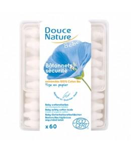 Douce Nature - 60 Bâtonnets d'oreilles sécurité bébé coton