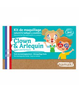 Namaki - Kit maquillage 3 couleurs Clown et Arlequin