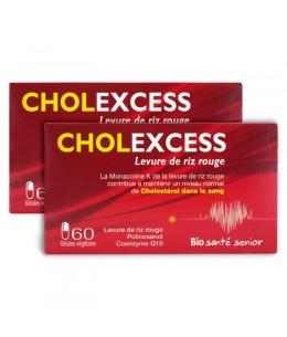 Bio Santé Sénior - Cholexcess Levure de riz rouge 2 boites de 60 gélules vegetales