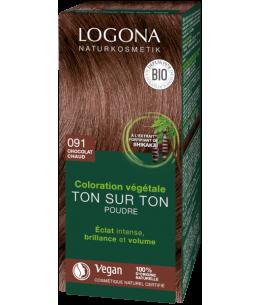 Logona - Soin colorant végétal en poudre chocolat - 100 gr