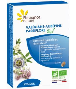 Fleurance Nature - Valériane Aubépine Passiflore bio - 60 comprimés