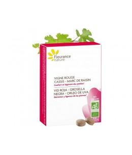 Fleurance Nature - Vigne Rouge Cassis Marc de Raisin bio - 90 comprimés