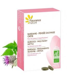 Fleurance Nature - Bardane Pensée Sauvage Ortie bio - 30 comprimés