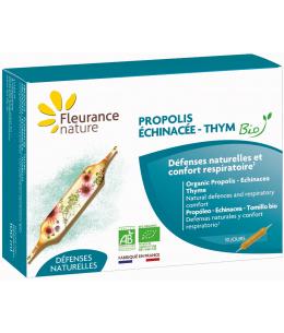 Fleurance Nature - Propolis Échinacée Thym Bio - 10 ampoules