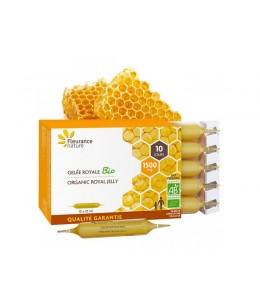 Fleurance Nature - Gelée royale 1500 mg Bio - 10 ampoules de 10ml