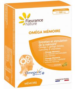 Fleurance Nature - Oméga Mémoire - 30 gélules + 30 capsules