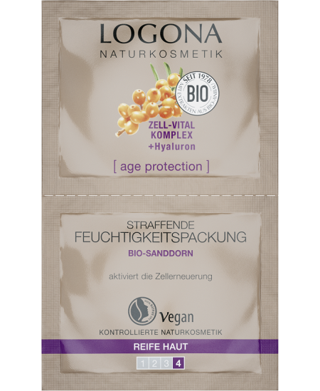 Logona - Age Protection Masque Hydratant Raffermissant - 2 sachet de 7,5 ml