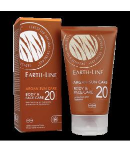 Earth Line - Crème solaire Argan visage et corps SPF20 protection moyenne - 150 ml