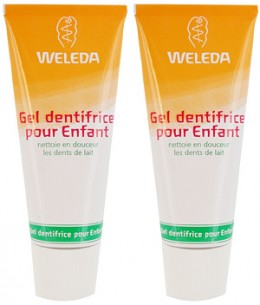 Weleda - Duo Gel dentifrice enfant dents de lait – 2 x 50 ml