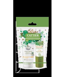 Cattier - Kit Hiver duo Hydratant Crème Mains sèches 30ml + Soin des Lèvres 4g