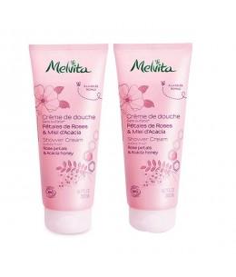 Melvita - Duo Crème de douche pétales de roses et miel d'acacia – 2 x 200 ml