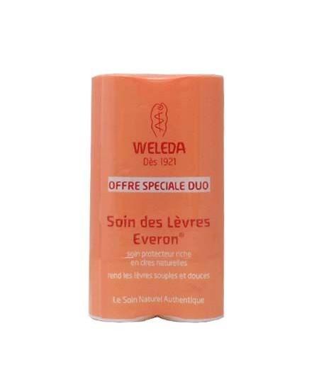 Weleda - Duo Soin des lèvres Everon riche en cires naturelles 2 x 4 g
