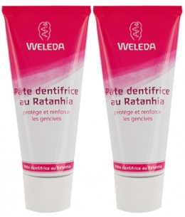 Weleda - Duo Pâte dentifrice au Ratanhia - 2 x 75 ml