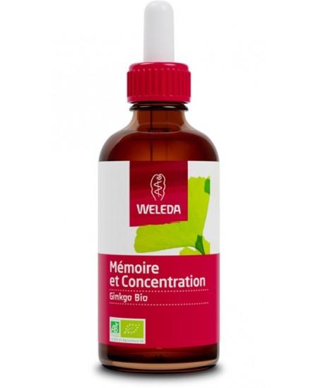 Weleda - Extrait de plantes bio mémoire et concentration Ginkgo biloba - 60 ml