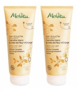 Melvita - Duo Gel douche camélia et miel de fleur d'oranger - 2 x 200 ml