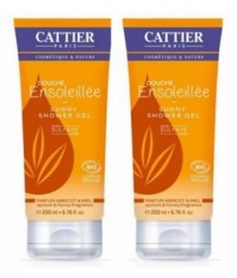 Cattier - Lot de 2 Gels Douche Ensoleillée sans sulfate - 2 x 200 ml
