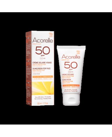 Acorelle - Crème solaire visage SPF 50 bio - 50 ml