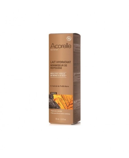 Acorelle - Lait hydratant minimiseur de repousse Essentiel Epil corps à l'extrait de Truffe - 75 ml