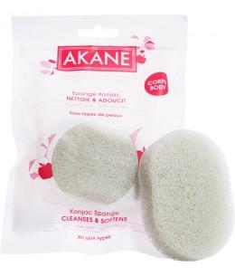 Akane - Eponge Konjac verte corps à l'Aloe Vera