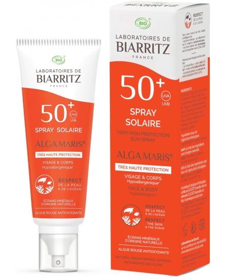 Alga Maris - Spray Solaire SPF 50+ Huile de Coco et Alga Gorria - 100ml