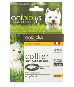 Anibiolys - Collier antiparasitaire petit et moyen chien - 41cm