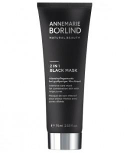 Anne Marie Borlind - Beauty Mask Masque de soin intensif pour peaux mixtes avec pores dilatés 2 in 1 Black - 75 ml