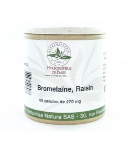 Enzymes digestives - Bromelaïne Raisin - 60 Gélules