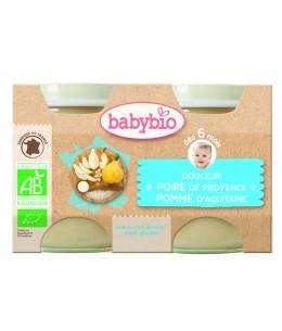 Babybio - Douceur de Poire Williams et Pomme d'Aquitaine dès 6 mois - 2x130 gr