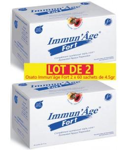 Lot de 2 Immun'Age Fort -2 x  60 Sachets de 4,5g Papaye Fermentée - Osato
