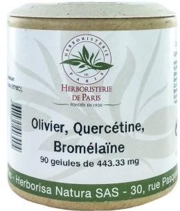 Herboristerie de Paris - Olivier Quercétine Bromelaïne - 90 gélules