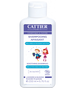 Shampoing Apaisant Anti Poux - 200 ml - Cattier enfants protecteur du cuir chevelu espritphyto