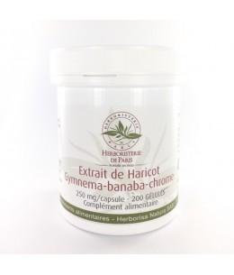 Herboristerie de Paris - Extrait de Haricot Gymnema Banaba Chrome - 200 gélules