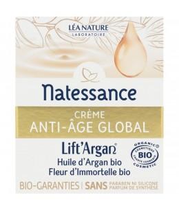 Natessance - Crème Anti-Âge Global Lift'Argan à l'huile d'Argan et Immortelle bio - 50 ml