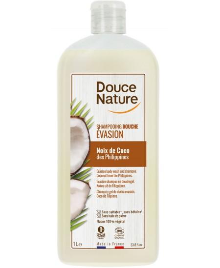 Douce Nature - Shampooing Douce Evasion Noix de Coco des Philippines - 1 L